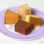 小山バウム、塩キャラメルバウム、福砂屋カステラ、オランダケーキ