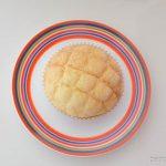 ヤマザキ塩バターメロンパン皿盛り