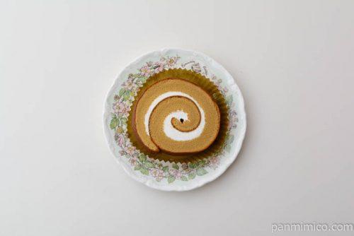 ローソン大豆粉とブランのしっとりロール皿盛り