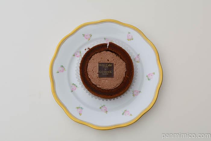 ウチカフェスイーツゴディバショコラロールケーキ皿盛り