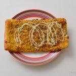 ローソン薄焼きスパイシーカレーチーズパン皿盛り