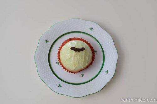 セブンイレブンメロンとミルクプリンのケーキ皿盛り