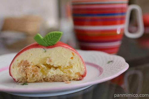 セブンイレブンカスタードホイップとリンゴのケーキ中身