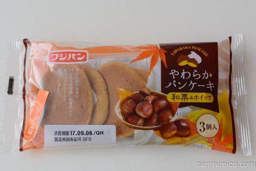 フジパンやわらかパンケーキ和栗&ホイップ