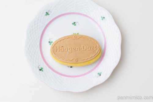 ハーゲンダッツクリスピーサンドパンプキンプディング皿盛り
