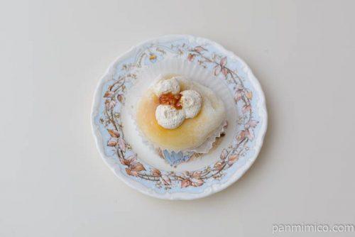 ファミマやわらかぎゅうひ包みカスタードプリン皿盛り