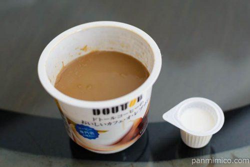 協同乳業ドトールコーヒーのおいしいカフェオレプリン中身