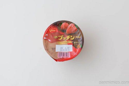グリコビッグプッチンプリンミルクチョコ&苺ソース