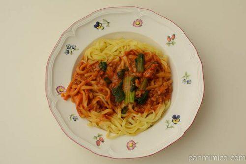 ファミマもちっと食感の汁なし担々麺完成
