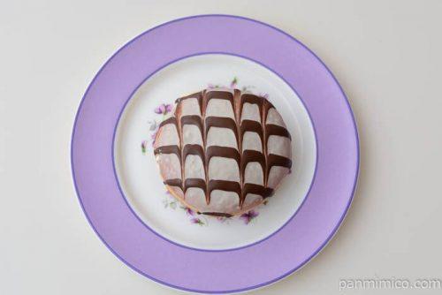ファミマミルクホイップドーナツ(ホワイトチョコ&ミルクチョコ)皿盛り