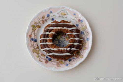 ベイクドショコラオールドファッション【セブンイレブン】皿盛り