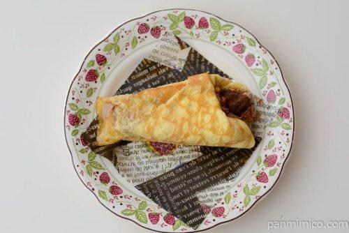 濃厚チョコ&バナナのクレープ包み【ローソン】皿盛り