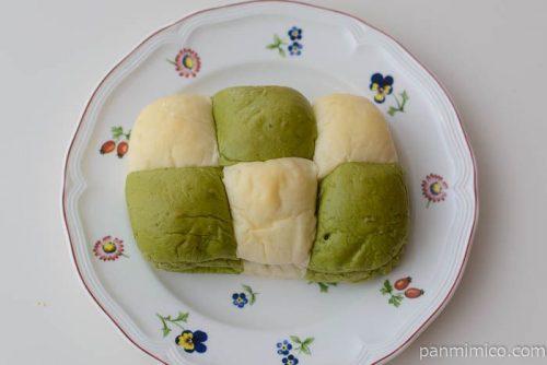 よもぎと小豆のちぎれるパン【ファミリーマート】皿盛り