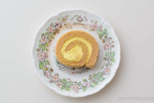 クレームブリュレのロールケーキ【オランジェ】皿盛り