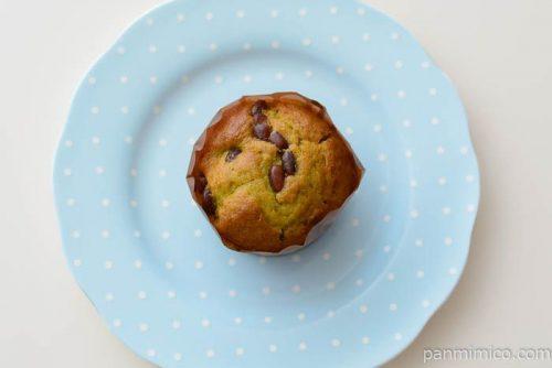 抹茶と小豆のマフィン 1個【ローソン】皿盛り