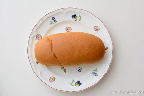 コッペパン(つぶあん&マーガリン)【セブンイレブン】皿盛り