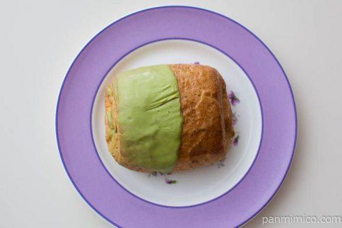 宇治抹茶のチョコデニッシュ【ファミリーマート】皿盛り
