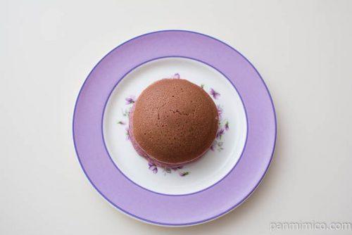 紅芋どらやき 紅芋あん&マーガリン【パスコ】上から見た図