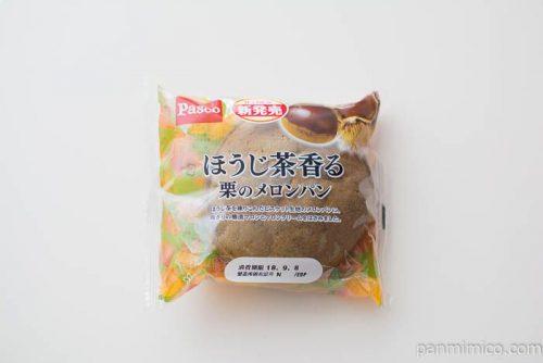 ほうじ茶香る栗のメロンパン【Pasco】パッケージ写真