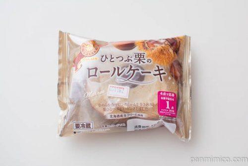 ひとつぶ栗のロールケーキ【ヤマザキ】パッケージ写真