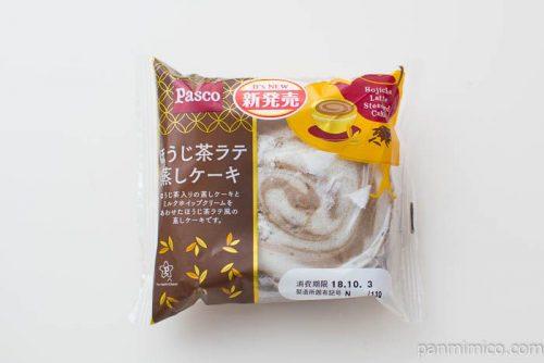 ほうじ茶ラテ蒸しケーキ【Pasco】パッケージ写真