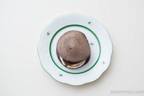 ティラミスパンケーキどら【セブンイレブン】上から見た図