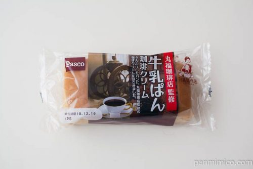 丸福珈琲店監修 牛乳ぱん 珈琲クリーム【Pasco】パッケージ写真