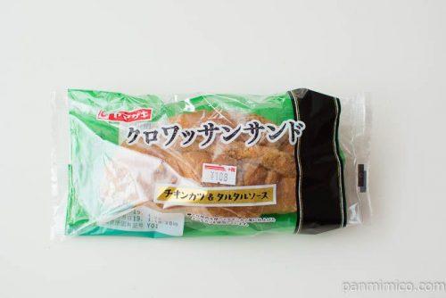 ヤマザキ クロワッサンサンド(チキンカツ&タルタルソース)パッケージ写真