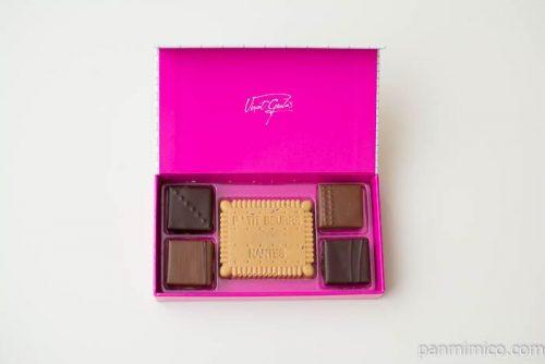 ショコラアソート5【ヴァンサン・ゲルレ】箱の中身