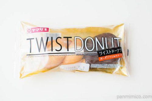 ツイストドーナツ(あんずジャム&ホイップ)【ヤマザキ】パッケージ写真