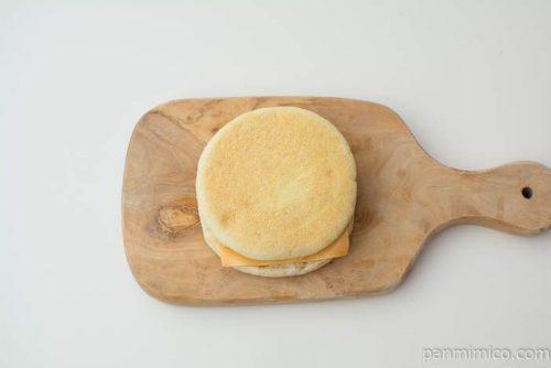 マフィンサンド エッグチーズ【Pasco】上から見た図