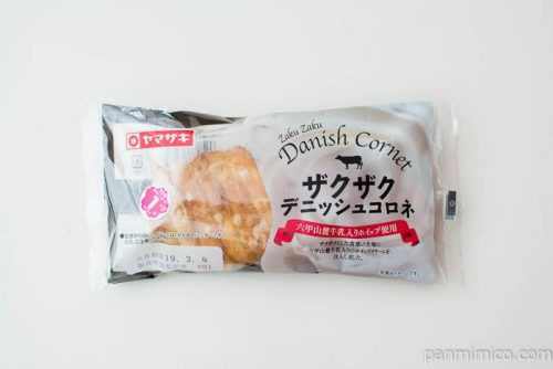 ザクザクデニッシュコロネ(六甲山麓牛乳入りホイップ使用)ヤマザキパッケージ写真