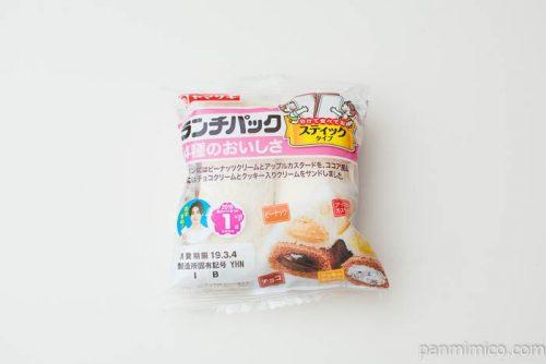 ランチパック(4種のおいしさ)(ピーナッツ・アップルカスタード・チョコ・クッキークリーム)【ヤマザキ】パッケージ写真