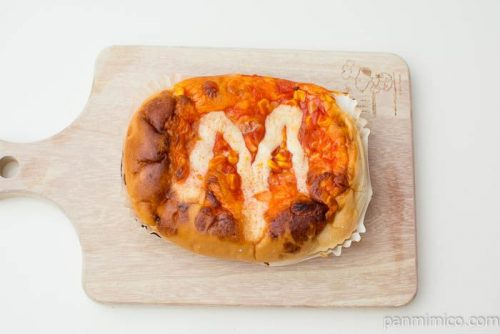 シャキシャキたまねぎのピザパン【ヤマザキ】上から見た図