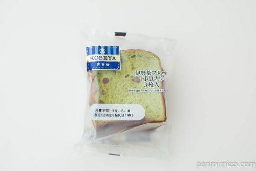 伊勢茶ブレッド(小豆入り)【神戸屋】パッケージ写真