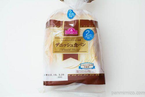 トーストしてサクサク食感 デニッシュ食パン【トップバリュ】パッケージ写真