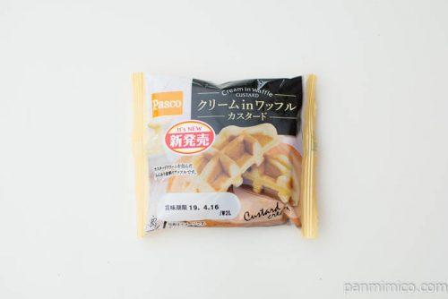 クリームinワッフル カスタード【Pasco】パッケージ