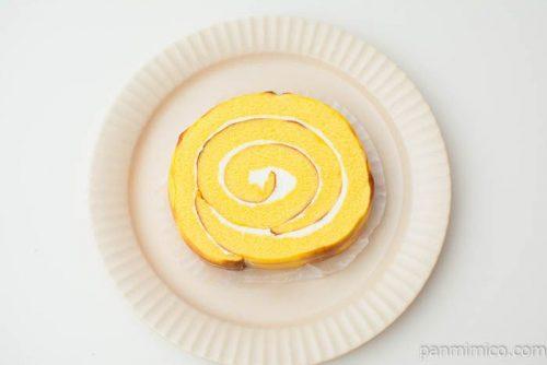 チーズのロールケーキ(北海道産チーズ入りクリーム)【ヤマザキ】上から見た図