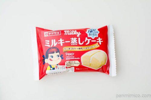 ミルキー蒸しケーキ(不二家ミルキーの練乳入りホイップ&ソース)【ヤマザキ】パッケージ