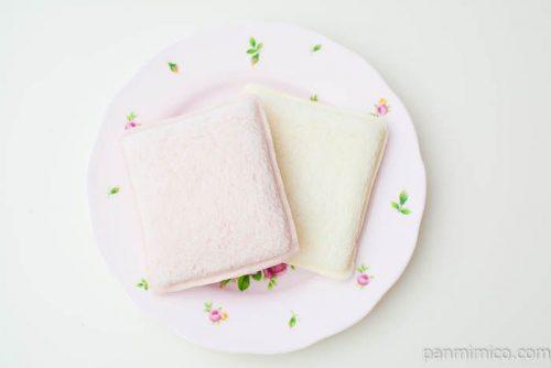 ランチパック(ホワイトチョコといちごチョコ)【ヤマザキ】上から見た図
