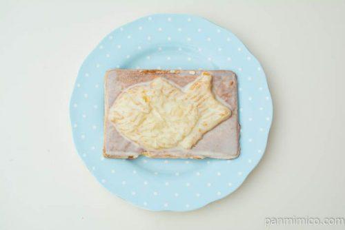 岡山備後 果香音(CACAO)白いクロワッサン鯛焼き上から見た図