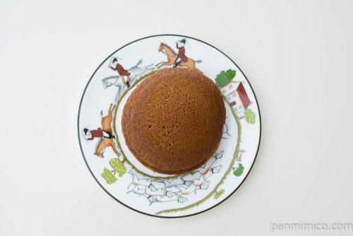 ホイップで食べるパンケーキ カフェラテ【Pasco】上から見た図
