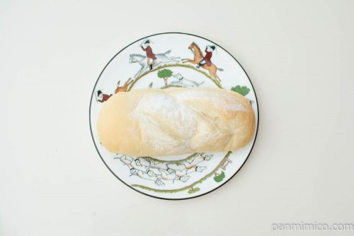 塩キャラメルクリームコッペパン【ヤマザキ】上から見た図