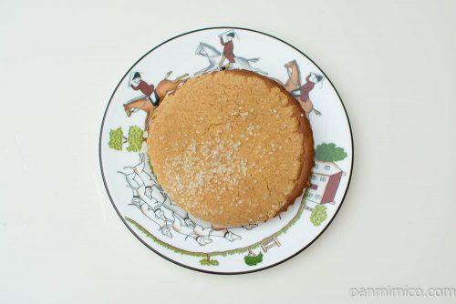 塩キャラメルクッキーケーキ(キャラメルコーンのペースト使用)【ヤマザキ】上から見た図