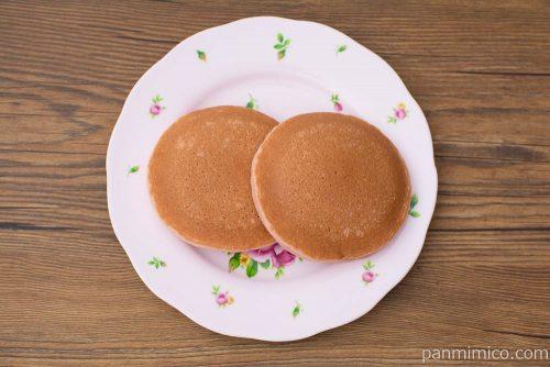 ルビーチョコ&ベリーパンケーキ 2個入【Pasco】上から見た図