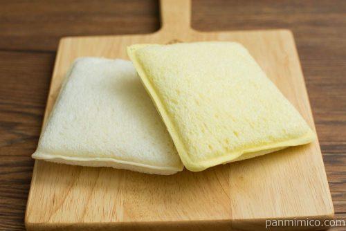 ランチパック(バナナ板チョコとミックスベリージャム)【ヤマザキ】横から見た図
