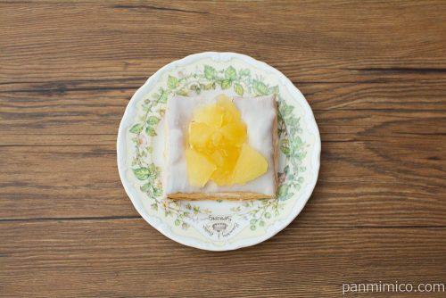 冷やして食べるしゃきしゃきりんごのアップルパイ【ファミマ】上から見た図
