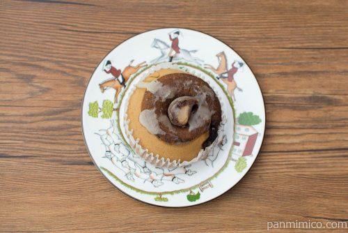 香り広がるコーヒー蒸しケーキ【ファミリーマート】上から見た図