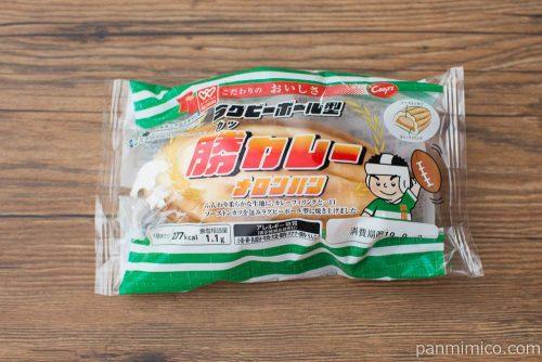 ラグビーボール型 勝カレーメロンパン【コープこうべ】パッケージ