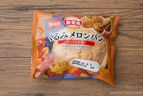 くるみメロンパン メープルの香り【Pasco】パッケージ